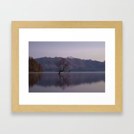 Mountain Series - Wanaka Tree Framed Art Print