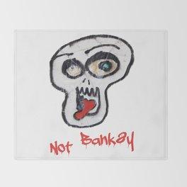 Not Banksy Throw Blanket