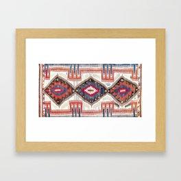 Afyon  Antique Phrygian Turkish Kilim Print Framed Art Print