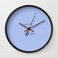 "ponyo Wall Clocks featuring Sleeping Ponyo ""Suya Suya Po"" by Masaki IINUMA"