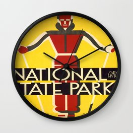 Vintage poster - National and State Parks Wall Clock