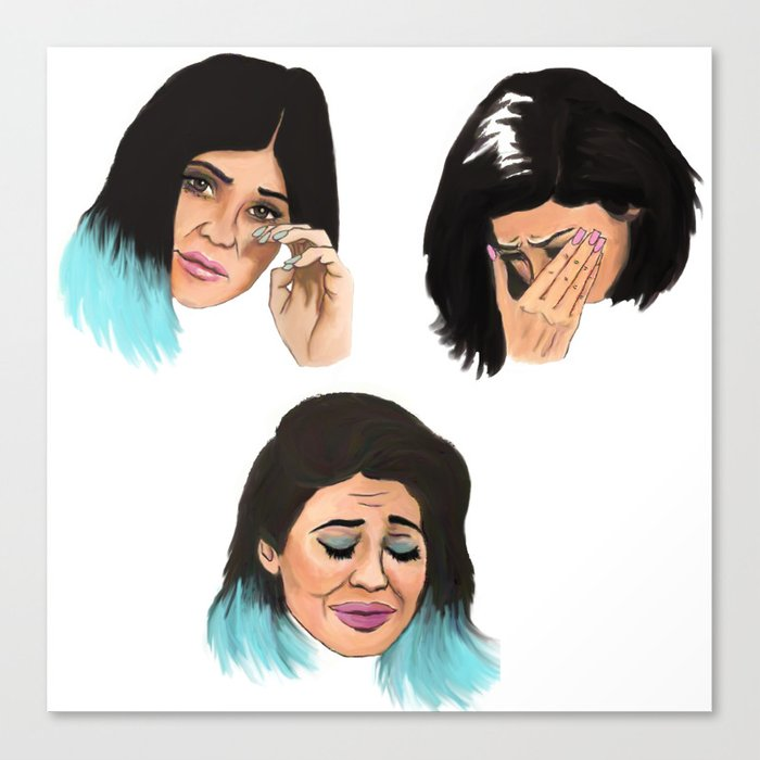 Krying Kylie Jenner Canvas Print