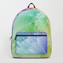 Tie Dye Hippie Spiral Feathers Backpack