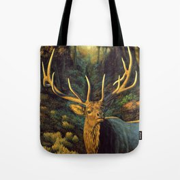 Bull Elk in Autumn Tote Bag