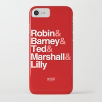 how i met your mother iPhone & iPod Cases featuring How I Met Your Mother Typography by Universo do Sofa - Artes & Etecetera