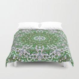 Her Mermaid Sea Kaleido Green Duvet Cover