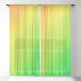 Bright Summertime Citrus Diagonal Ombre Sheer Curtain