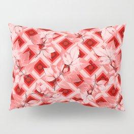 Pink Op Art Autumn Pillow Sham