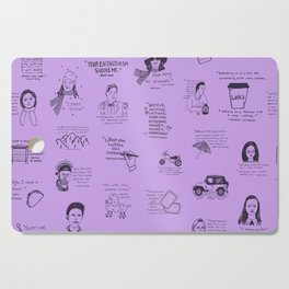 Gilmore Girls Quotes in Purple Cutting Board