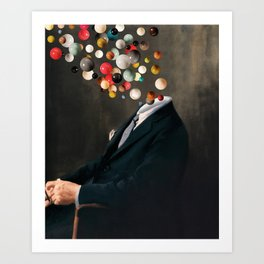 Existentialist / Nelson reflects  (2020) Art Print