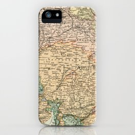 Vintage and Retro Map of India iPhone Case