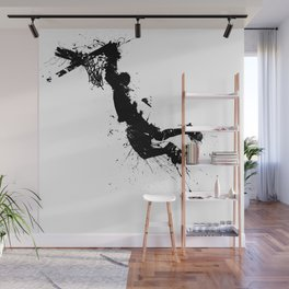 Basketball player dunking in ink Wall Mural