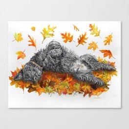 Scottie Dog Fall Fun Canvas Print