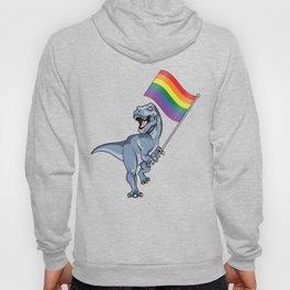 LGBT Dinosaur Pride Flag T-Rex Gay Lesbian Trans TRex Rainbow  Hoody