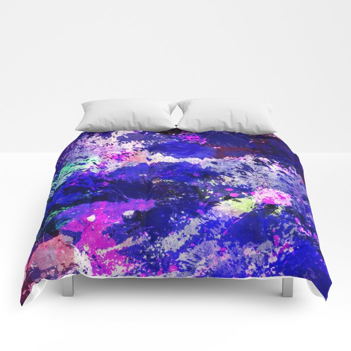 Freedom - Abstract In Blue And Purple Comforters