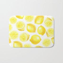 Watercolor lemons design Bath Mat