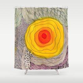 abstract sun flower Shower Curtain