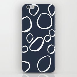Daisy Circles Navy iPhone Skin