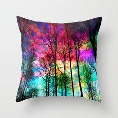 Colorful sky Throw Pillow