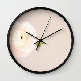 Blush pink ranunculus Wall Clock