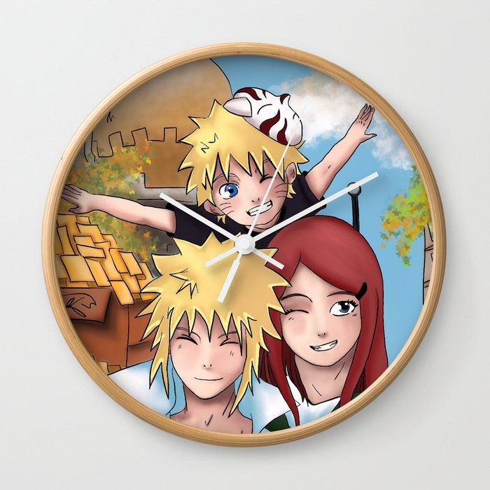 Naruto Family Wall Clock