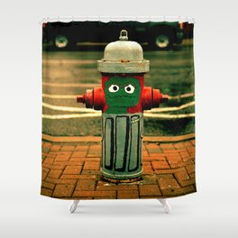 OSCAR THE FIRE HYDRANT Shower Curtain