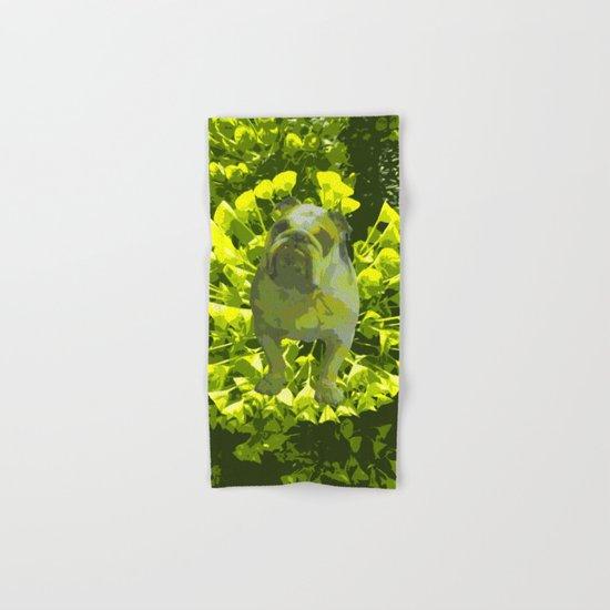 Green Pug Hand & Bath Towel
