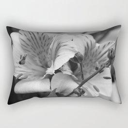 Freesia B&W Rectangular Pillow