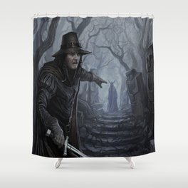 Chasing the Devil Shower Curtain