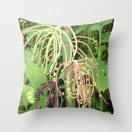 Unusual Hanging Tropical Plant in Maui Throw Pillow