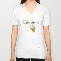how i met your mother V-neck T-shirts featuring Legendairy - How I Met Your Mother by Tamsin Lucie