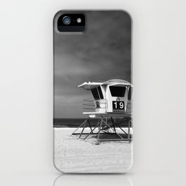 Lifeguard Tower 19 Before the Storm iPhone Case