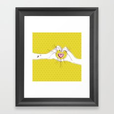 Heart Hands Framed Art Print
