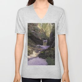 The stream in mountains Unisex V-Neck