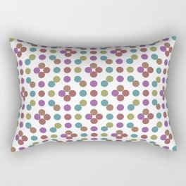 Multicoloed Circles Pattern Rectangular Pillow