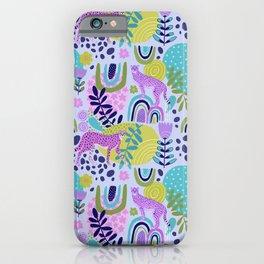 Cheetahs on Rainbows iPhone Case