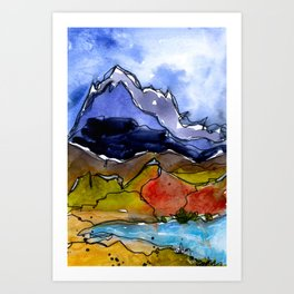Landscape November 20 Art Print