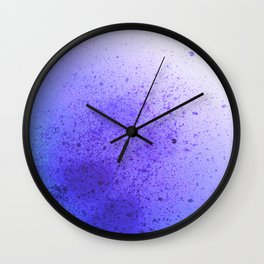 Vibrant Lavender and Sky Blue Spray Paint Splatter Wall Clock