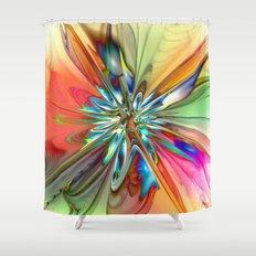 Splendid Fractal Flower 4 Shower Curtain