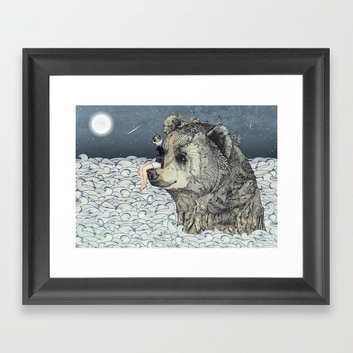 Bear Rock Framed Art Print