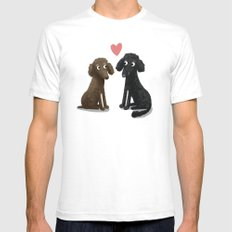 Cute Dog Illustration- Poodles Mens Fitted Tee SMALL White