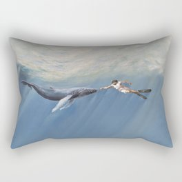 The Creation of Adam the Whale Rectangular Pillow