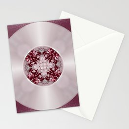 Vinyl Record Illusion in Pink Stationery Cards