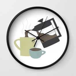 Coffee (French Press) Wall Clock