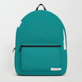 LETTER T (WHITE-TEAL) Backpack