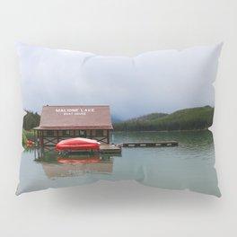 Maligne Lake Boathouse Pillow Sham