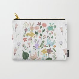 Springtime In The Bunny Garden Of Floral Delights Carry-All Pouch