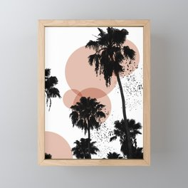 Black and White Palm Trees Framed Mini Art Print