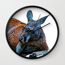 Recumberant Roo Wall Clock