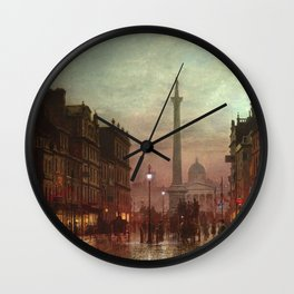 Whitehall at Twilight, Westminster, London, England by Louis H. Grimshaw Wall Clock